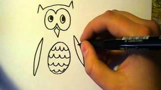 Lær at tegne EN FANTASIUGLE | HVORDANTEGNERJEG.DK ✔