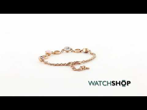 Guess Jewellery Ladies' Rose Gold Plated Hypnotic Bracelet (UBB61042-L)