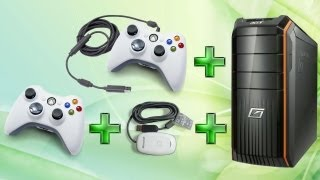 Как подключить проводной и беспроводной джойстики Xbox 360 к ПК.(If someone is interested in english version of this video, please let us know and we will think about this., 2013-06-11T10:09:40.000Z)