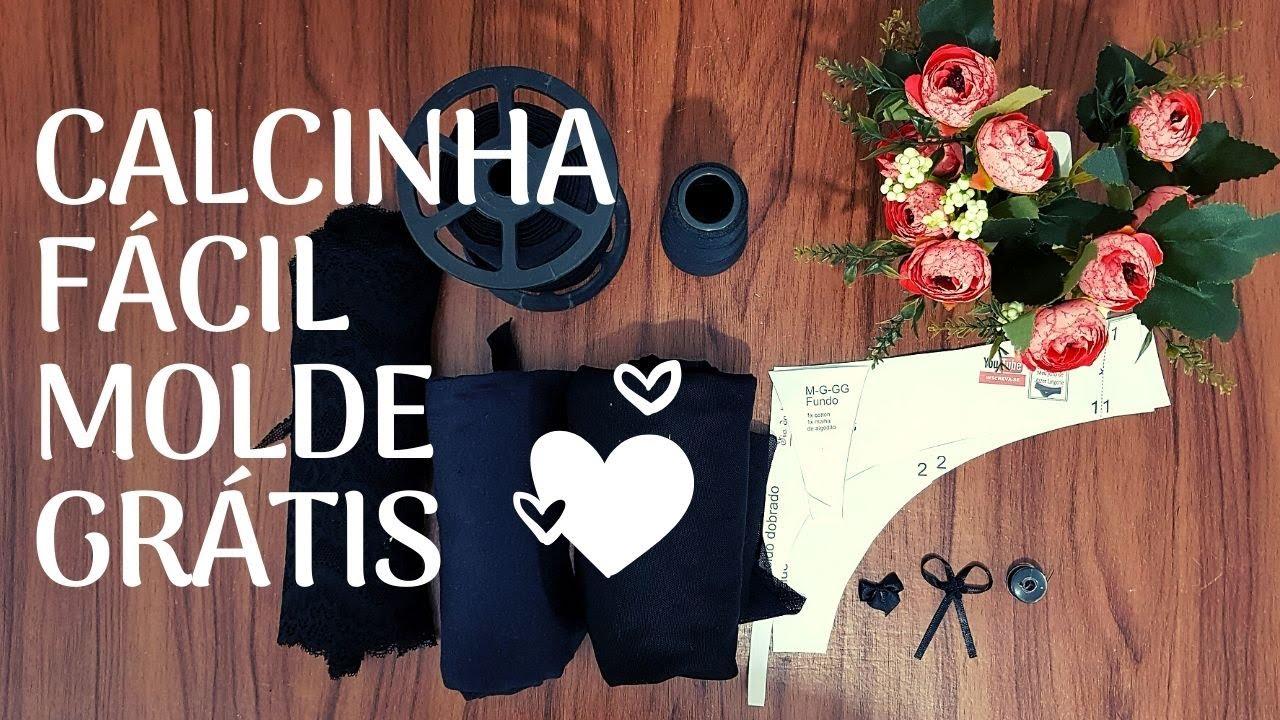 CALCINHA CAVADA COM RENDA NA FRENTE E TULE ATRAS/MOLDE GRÁTIS