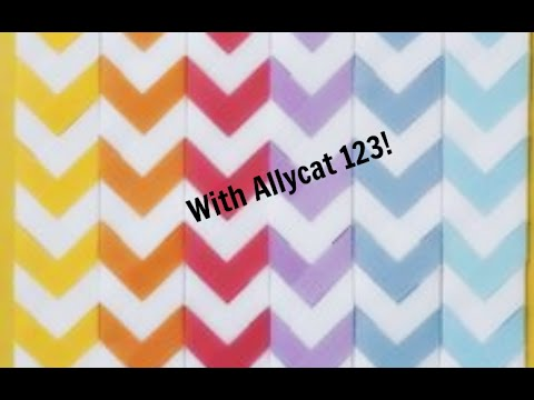 DIY Chevron Bookmarks w. Allycat 123!!!