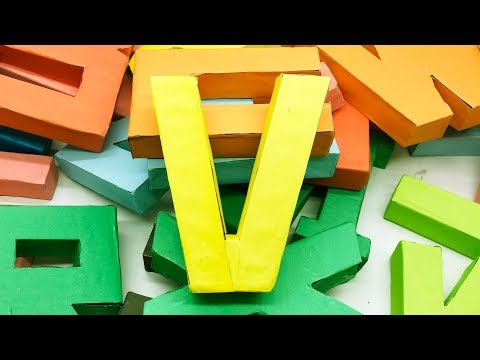 How to Make 3D Paper Letters | DIY Alphabet Letter | 5 Minutes Crafts & Toys