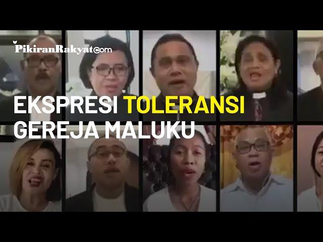 Ekspresi Toleransi Gereja Protestan Maluku Nyanyikan Lagu