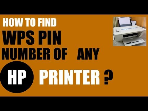 How To Find The WPS PIN Number Of Any HP Printer ?