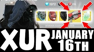 "Destiny - XUR Agent of the Nine ""ICEBREAKER""!!!!! YOU HAVE RETURNED MY SON !!! (January 16th)"