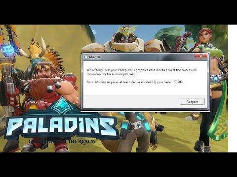 PALADINS - Corrigindo erro shader model 3.0 #50