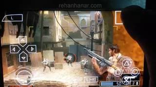 Resistance Retribution game in Samsung Galaxy S7 Edge PSP Emulator Android BEST SETTINGS HD