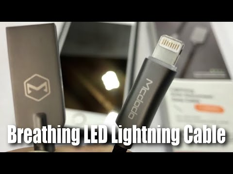 Smart Glowing Breathing LED Auto Disconnect McDodo Apple Lightning Charge Cable Review