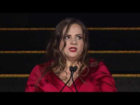 Miranda Patrucic Accepts ICFJ's Knight International Award