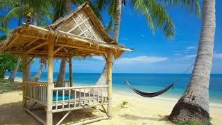 Картинка лето. Гамак, бунгало, берег, пальмы | Picture summer. Hammock, bungalow, beach, palm trees