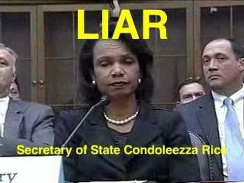Condoleezza Rice: Liar, Secretary of State, War Criminal pt1