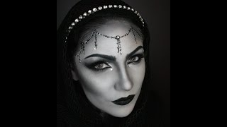 Black And White Grayscale Glam Halloween Makeup Tutorial