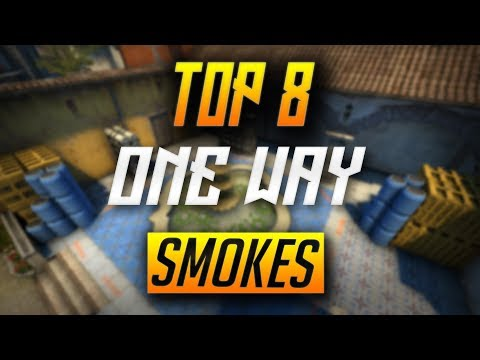 TOP 8 INFERNO ONE WAY SMOKES *NEW* - CSGO (2018)