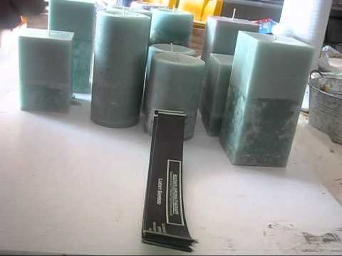 Unmolding Lucky Bamboo Pillar Candles