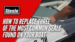 How to replace three of the most common seals found on many bowriders and ski boats.