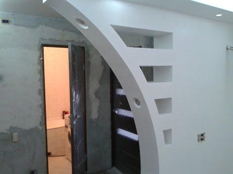 для фото гипсокартона конструкции зала из