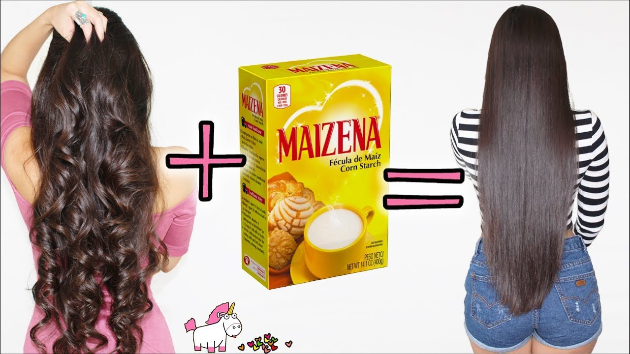 Cabello Liso Natural Con Maizena Este Alisado Sin Calor Funciona Bessy Dressy Youtube