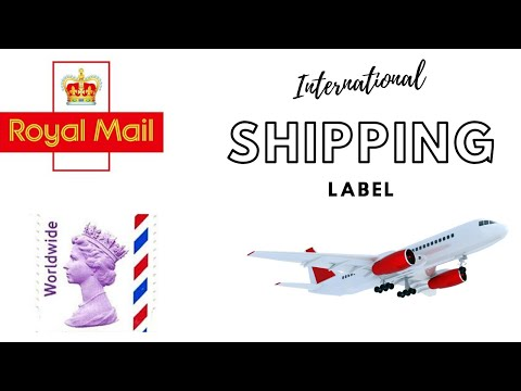 INTERNATIONAL SHIPPING LABEL PROCESS  (ROYAL MAIL, CLICK \u0026 DROP)