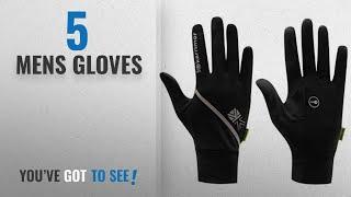 Top 10 Mens Gloves [2018]: Karrimor Mens Running Gloves (Black) (M-L)