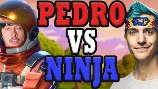 Pedro is Pro Streamer Pedro Challenges Ninja in Fortnite Battle Royale