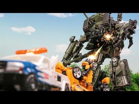 Transformers Movie 1 Bumblebee LongArm Brawl Wreck Car Tank Vehicle Robot Car Toys