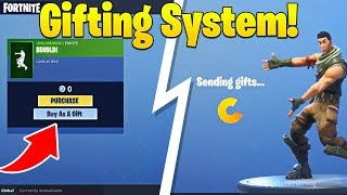 First Look at NEW Gifting System Coming to Fortnite! (How it Works)