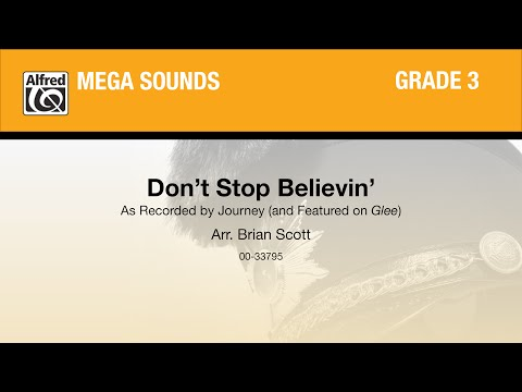Don't Stop Believin', arr. Brian Scott - Score & Sound
