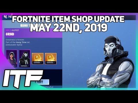 Fortnite Item Shop UPDATE *NEW* HANG TIME BUNDLE! [May 22nd, 2019] (Fortnite Battle Royale)
