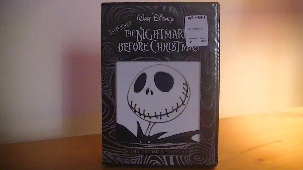 the nightmare before christmas dvd unboxing