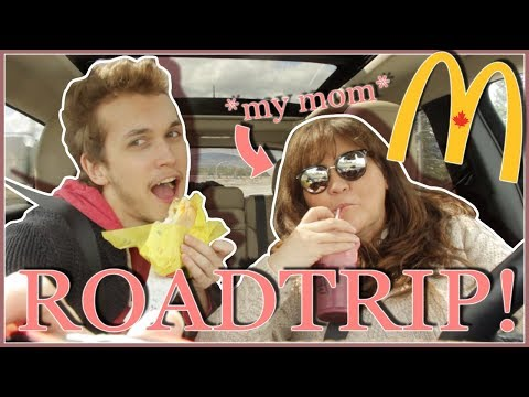 McDonalds MUKBANG While Road Tripping WITH MY MOM!