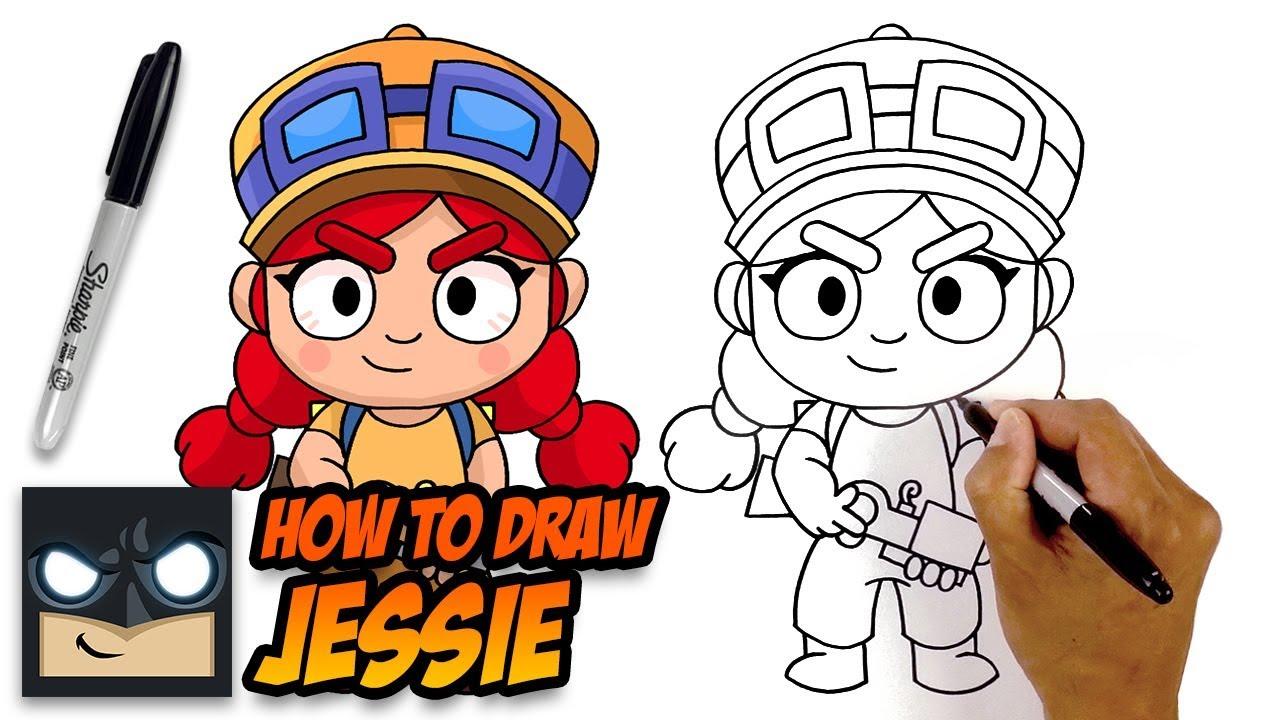 How To Draw Brawl Stars Jessie Youtube