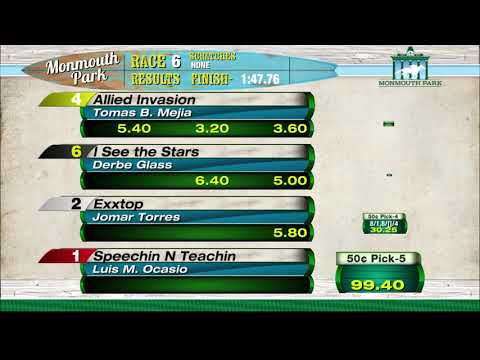 video thumbnail for MONMOUTH PARK 05 28 21 RACE 6