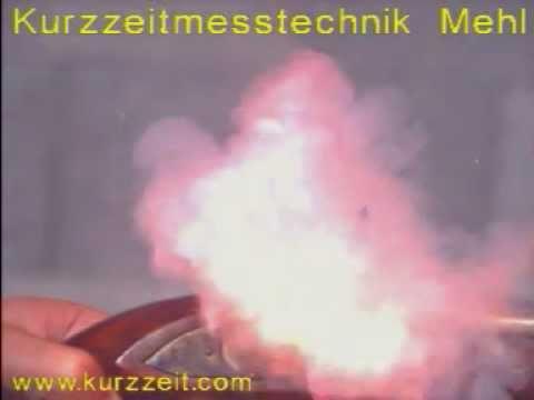 Flintlock fire in slow motion