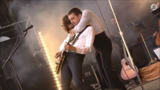 "The Last Shadow Puppets performing ""Used To Be My Girl"" at the Øyaf..."