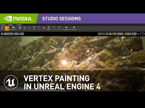 Vertex Painting in Unreal Engine 4 w/ Javier Perez   NVIDIA Studio Sessions