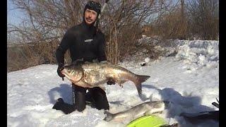 Зимняя охота на водохранилищах ч.2 / Подводная охота Александр Кочубей.