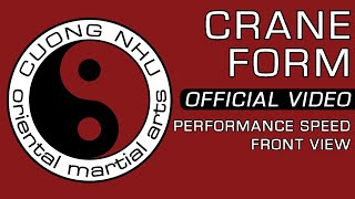 Cuong Nhu Crane Form - Official Kata - Performance Speed - Front View
