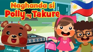 Polly, Put the Kettle On in Filipino | Philippines Kids Nursery Rhymes & Songs | Awiting Pambata