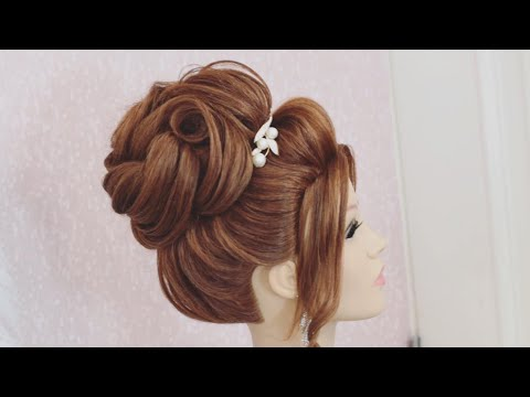 ELEGANT UPDO HAIRSTYLE FOR PARTY WEDDING