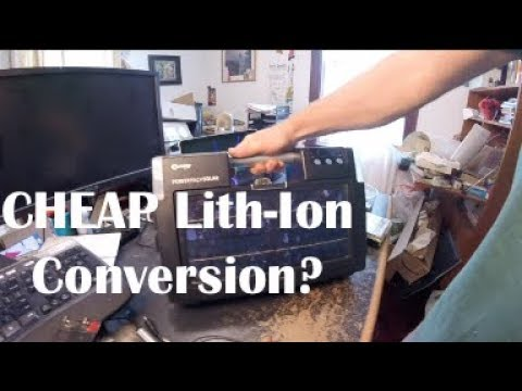 CHEAP Offgrid Lithium Ion Solution - Lead Acid to Ebay Li-Ion Battery Conversion
