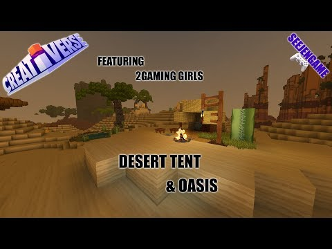 Creativerse\\2Gaming Girls Desert Tent and Oasis