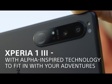 Xperia 1 III – with Alpha-inspired technology to fit in with your adventures
