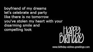 Boyfriend birthday wishes darling sweetheart lover
