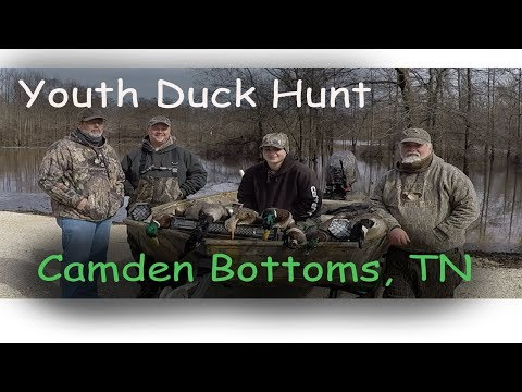 Duck Hunt Camden Bottoms TN, Youth-2019