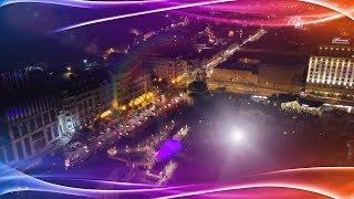 Kyiv Lights Festival by drone 4k. Световое шоу в Киеве на Почтовой.