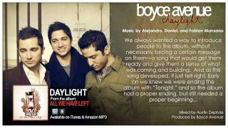 Boyce Avenue - Daylight (Original Song u0026 Story Behind It) on Spotify u0026 Apple