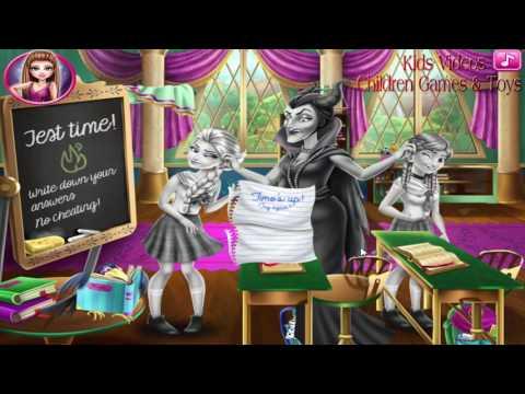 Disney Frozen Games - Frozen Highschool Mischief - Frozen Study Games for Girls