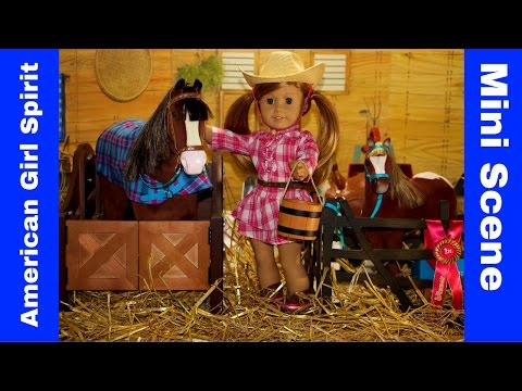 American Girl Doll | 2008 GOTY Mia St.Clair Rising Star Horse Stables | Mini Scene