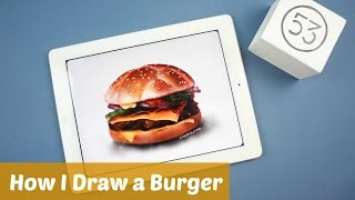 How I draw a burger on ipad: with Paper by 53