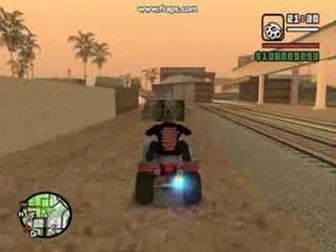 GTA San Andreas Quad stunts